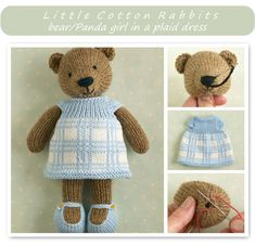Afbeeldingsresultaat voor little cotton rabbits Knitted Bunnies, Knitted Teddy Bear, Knitted Animals, Knitted Dolls, Crochet Cable, Knit Or Crochet, Crochet Toys, Knitting Projects, Knitting Patterns