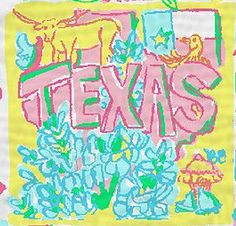 Lilly Pulitzer Texas print. They get one pattern, but I'm pretty sure Florida can claim them all.