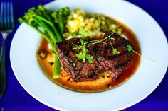 Elaine Bell Catering    Gourmet steak dinner. #enlucephotography #milestoneeventsgroup