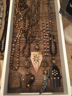 assorted beaded boho style necklaces. Wholesale and retail lisajilljewelry@gmail.com