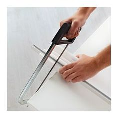 IKEA - VIDGA, Miter box, Makes it easy to cut VIDGA curtain rails to the desired length.