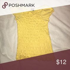 GAP light yellow shirt In great condition. super cute top perfect for the summer/spring GAP Shirts & Tops