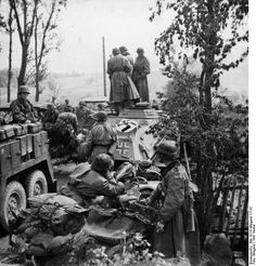 SS Division Totenkopf during the invasion of the Soviet Union in September 1941.