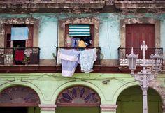 Faverig bygning i Havana, Cuba