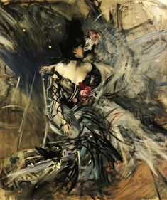 """Giovanni Boldini """"Danzatrice spagnola al Moulin Rouge"""" (1905) Olio su tela, collezione privata"""