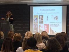 Carmen Sánchez Martín, Psicóloga, Sexóloga y Psicoterapeuta durante su conferencia. Sexualidad Activa en Mujeres Directivas. Patrocinada por PharmaNord