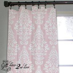 Dorm Room Windows Bella Pale Pink Custom Window/Closet Panel