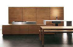 Modern Italian kitchen design with sliding doors everywhere