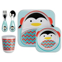 Kids will love eating meals or snacks with the Arctic friends featured on the Skip Hop Winter Feeding Set. The set comes with a dishwasher-safe plate, bowl and tumbler, which are perfect for warm meals and hot cocoa. www.rightstart.com