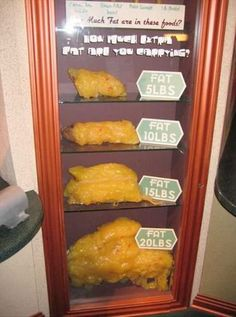 Fat: I've already lost 10lbs of fat! Yay me! Nasty looking!!!