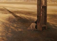 Sozinha - Iman Maleki e suas pinturas realistas ~ Pintor iraniano