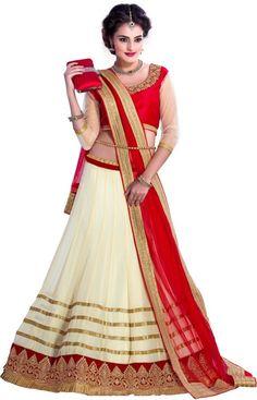 Khazanakart Self Design Women's Lehenga, Choli and Dupatta Set - Buy Off White, Royal Red Khazanakart Self Design Women's Lehenga, Choli and Dupatta Set Online at Best Prices in India   Flipkart.com