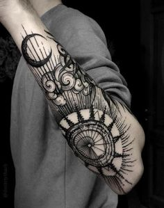 Image result for sun and moon tattoo men