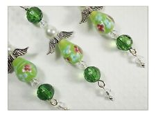 Christmas Beaded Lampwork Angel Icicles Ornaments  Set of 3
