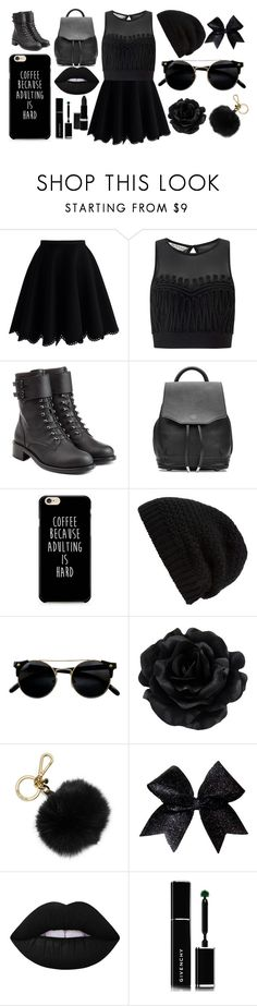 """Your Dark Flower"" by the-sad-boy-gang ❤ liked on Polyvore featuring Chicwish, Miss Selfridge, Philosophy di Lorenzo Serafini, rag & bone, Rick Owens, MICHAEL Michael Kors, Lime Crime, Givenchy and Hard Candy"