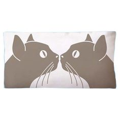 Kissing Cats Pillow