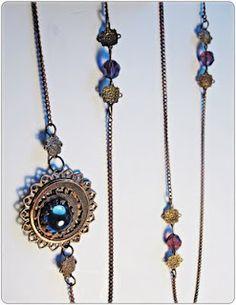 The Jane Austen Vintage Brass Necklace Tutorial
