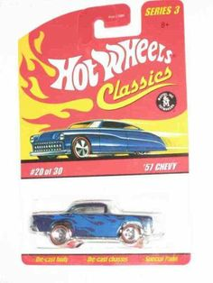 Hot Wheels Classics Series 3 -#20 '57 Chevy Blue 5-Spoke Redlines Collectible Collector Car 2007 Hot Wheels 1:64 Scale Collectible Die Cast Car by Hot Wheels. $5.99. A Perfect Addition To Any Hot Wheels Collection!. Great Investment For Any Hot Wheels Collector.. Perfect Hot Wheels Diecast for every collector!. Fun For All Ages! Serious Collectors And Kids Alike!. Diecast Metal Hot Wheels Car Perfect For That Hot Wheels Collector!. Classics Series 3 -#20 '57 Chevy ...