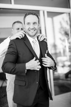 #getting #ready #groom #groomsmen #pictures #black #white #elegant #navy #gray #tux #tuxedo #venue #Arizona #RoyalPalmsResort #Scottsdale #ParadiseValley #ALWE #destination #weddingplanner #andrealeslieweddings // Planning & Coordinating - Andrea Leslie Weddings & Events // Photography - I Do Photography // Venue - Royal Palms Resort, AZ // Groom and groomsmen attire - Celebrity Tux and Tails //