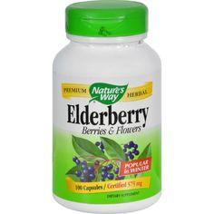 Nature's Way Elderberry Berries and Flowers - 100 Capsules