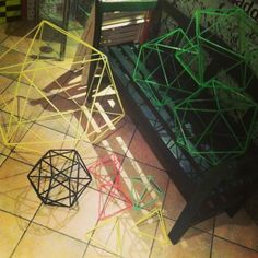 Geometric handmade  installation