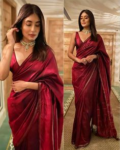 Dress Indian Style, Indian Fashion Dresses, Indian Designer Outfits, Indian Attire, Indian Ethnic Wear, Stylish Sarees, Stylish Dresses, Saris, Sarees For Girls