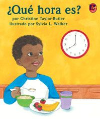 ¿Qué hora es?  Cover. See how a young boy goes through his busy day, hour by hour. #BebopBooks