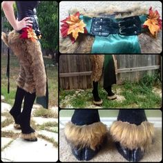 Deer Stag Reindeer Goat Camel Front Hooves Halloween Costume Gloves Accessory