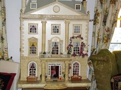 Hand painted and decorated dolls house