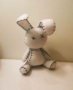 Felt bunny - roadkill? Untimely demise? Dos Equis en los ojos!