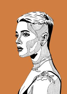 Halsey by Paperfox Arte Grunge, Grunge Art, Biro Art, Pen Art, Halsey, Stippling Art, Polygon Art, Arte Pop, Art Sketchbook