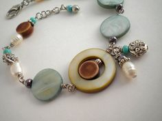 Flowers By The Sea Bracelet by stylizeddesigns on Etsy, $18.00