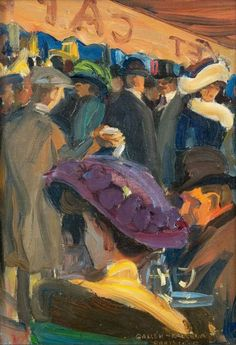Akseli Valdemar Gallen-Kallela - Café in Paris - 1909