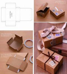 CHÁ MATE COM PINHÃO: Caixas para imprimir e presentear