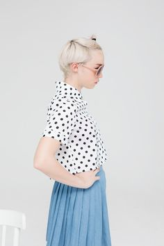 thewhitepepper:  Polka Dot Crop Shirt THE WHITEPEPPER  Visit us on Facebook