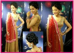 Amrita Rao dons a beautiful lehenga by Kanika Kedia for a Diwali special episode of UTV Stars.