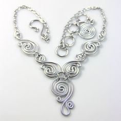 Spiral Waves Necklace by melissawoods on Etsy