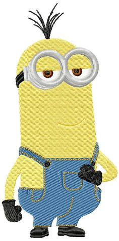 Minion Keven machine embroidery design in 3 sizes by emoembroidery