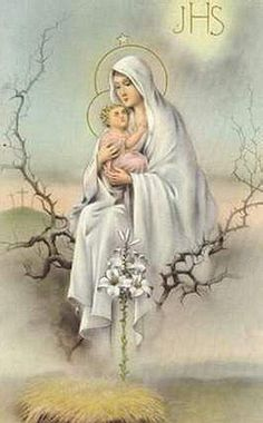 Blessed Mother:) with baby Jesus