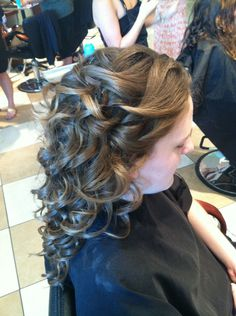 Updo..maybe similar but swept into a loose side pony.