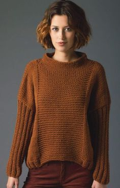 24960395fad48b Long Sleeve Pullover Sweater Knitting Patterns