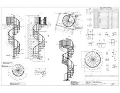 Advanced Detailing Corp is experienced structural steel and miscellaneous metals detailer and has an exceptional record of the completed steel stairs detailing projects for residential, commercial and public buildings Spiral Staircase Dimensions, Spiral Staircase Plan, Stair Dimensions, Stair Plan, Modern Staircase, Staircase Design, Circle Stairs, Foyers, Autocad