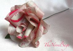 This crafty pink 'literature rose' from Etsy seller TheNovelSage would fill any book lover's heart with delight!
