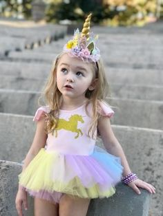 Beautiful unicorn tutu outfit.  Shop for more beautiful styles for any moment at www.bellethreads.com