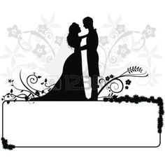 creative bride: wedding couple silhouettes for wedding, occasions, celebrations and others ring boho fashion for teens vintage wedding couple schmuck verlobung hochzeit ring couple silhouette couple illustration Silhouette Couple, Wedding Silhouette, Silhouette Art, Wedding Card Design, Wedding Cards, Wedding Invitations, Wedding Couple Cartoon, Couple Clipart, Wedding Graphics