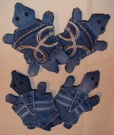 Denim Pocket Turtle Dog Toy Squeaky Toy by Ruffelstiltskin on Etsy, $9.00