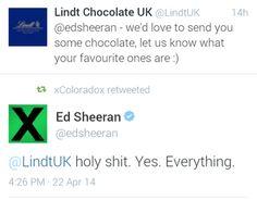 Ed Sheeran's Twitter. ... again. Because, look at it.