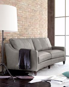 "Shop ""Fern"" Leather Sofa at Horchow, where you'll find new lower shipping on hundreds of home furnishings and gifts. Furniture, Living Room Sofa, Grey Leather Sofa Living Room, Leather Sofa Living Room, Sofa Furniture, Traditional Sofa, Sofa Design, Sofa, Sofa Deals"