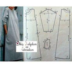 """ถูกใจ 1,662 คน, ความคิดเห็น 55 รายการ - Dikiş Kalıpları ve Patronları (@dikiskalipvepatronlari) บน Instagram: """"#elbise #dress kalıbı. 48/52 beden arası dostlar rahatlıkla kullanabilir. Bol, salaş ve rahat...…"""""""