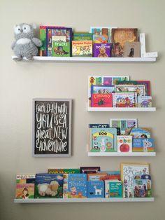 IKEA ribba shelves as a bookshelf